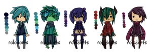 Tiny Base Palette Adopts [closed] by DeadEndAdopts