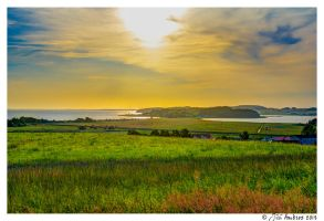 Sunset over Thiessow by Sigfodr