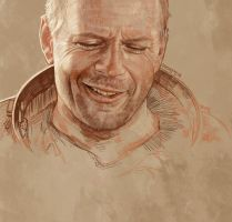 Daily Sketch 11: Bruce Willis in Armageddon by artandwine365