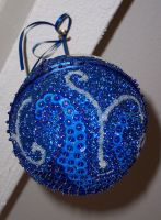 Completed Tardis Ornament, bottom view by Vivienne-Mercier