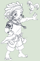 Keahi_chibi_uncolored. by Nauscica