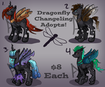 Dragonfly Changeling Adopts by dreamerswork
