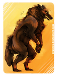 Art Trade: - Werewolf or not - by Drahiny