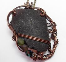 Chocolate Brown Maine Sea Glass Necklace by sojourncuriosities