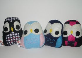 Owl Plushies by kiddomerriweather