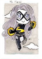 Ms Marvel Trading Card by CuddlyCapes