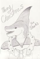 This Shark says Merry Christmas by CLPennelly
