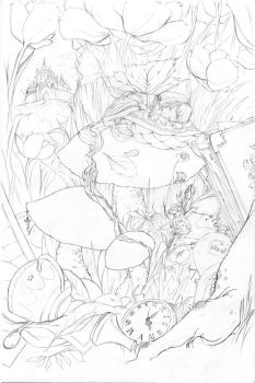 Cache of the Princess - lineart by Kika-alf