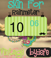 Skin For Rainmeter Clock Vintage by Isfe