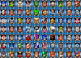 Robot Masters Collage by Narishm