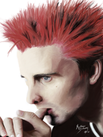 Matthew Bellamy portrait by DarkCrow3