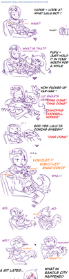 Varus , Lulu and Gnar - Pocky Game Gone Wrong by Kasugaxoxo