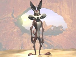 Wile E coyote 3D by 3DSud
