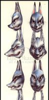 Wolf Masks by EllieOkamoto