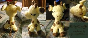Baby Giraffe - crocheted doll by JenniferElluin