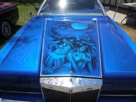 Blue Lincoln Lowrider Hood by Jetster1
