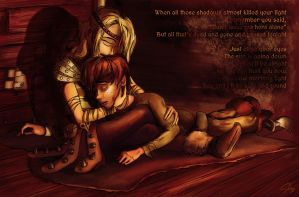 Safe and Sound: Hiccup and Astrid by inhonoredglory
