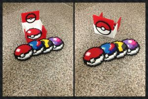Pokeball Perler Bead Coaster Set by jnjfranklin