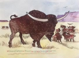 New Book Project - Bison latifrons by DonnaBarr