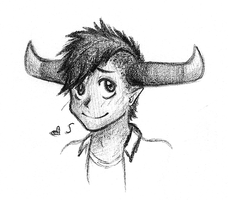 Another Tavros Sketch by Blue-eyed-Raccoon