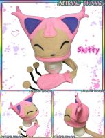 Skitty Hat with Tail by AnimeNomNoms