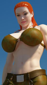 Cassie Croft 300ft 8 by Tiny-Mk by Giantess-Cassie