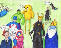 Avengers/Adventure Time Crossover by AquaStorm4