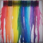 Melted Crayons - Rainbow by FrXstBite