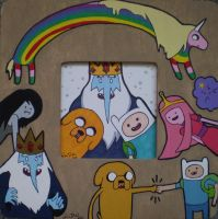 Adventure Time Picture Frame by LadyNin-Chan