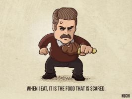 RON SWANSON by NuchiCorp