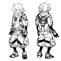 character design comm-concept sketch for c-l-e-a-r by bozrat
