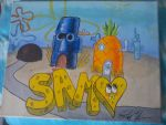 Sam Spongebob Canvas by LotusOner