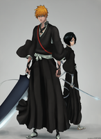 B460 Ichigo and Rukia by GTColors
