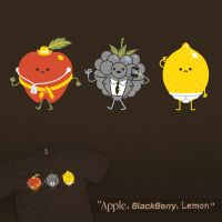 Apple, Blackberry, Lemon - tee by InfinityWave