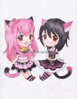 COMM::. Mimi and momo for EnternalSonata by 2947 by Rhasri