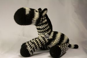 Amigurumi Jointed Zebra by karenscrochetcorner