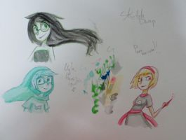 Homestuck-watercolor sketches by SuperRainbowGirl