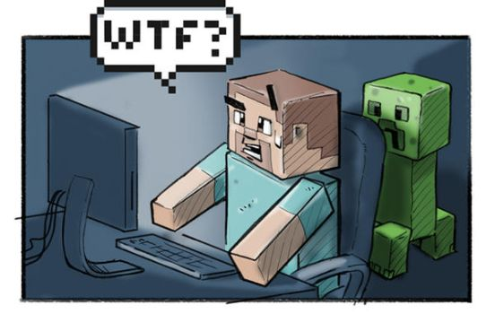 Minecraft late at night... by Tessig