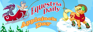 Equestria Daily AJ Day 2015 Banner Submission by TexasUberAlles