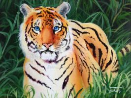 Tiger Painting by h0wr