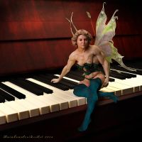 Fairy Muscle_There's a Fairy on my Piano by rainbowscriber