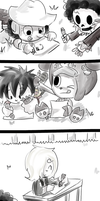 when the strawhats are drawing by LeniProduction