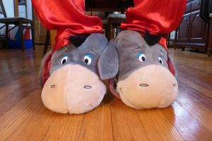 Eeyore slippers, front by ExileLink