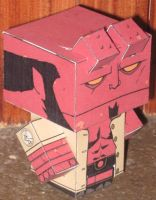 Hellboy Cubee by paperart
