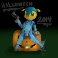 Zero Suit Fuleco for Halloween by ZekromLullaby
