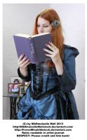 Victorian Girl reading a Book STOCK by MADmoiselleMeliStock