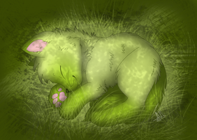 :Comm: Napping by AishaArts