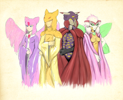 The Primordial Deities (Coloured Scrap) by Cylent-Nite