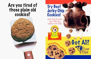 Cow Chips 2 Page Magazine Ad by grace2design