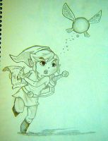 Toon Link and Navi by LindseyLovesLink